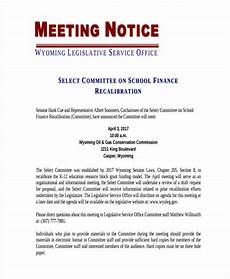 Example Of A Notice Letter Short Meeting Notice