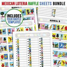 Raffle Types Loteria Raffle Sheets Bundle Includes 4 Different Types