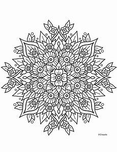 flower mandala crayola