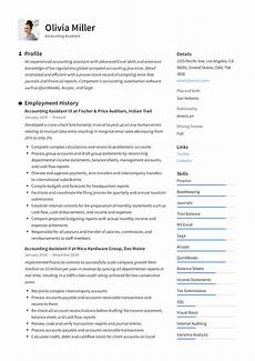 Accounts Assistant Cv Example Accounting Assistant Resume Amp Writing Guide 12 Examples