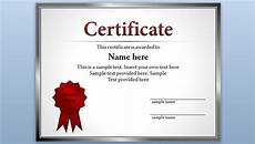 Free Editable Certificate Templates Free Certificate Template For Powerpoint 2010 Amp 2013