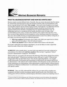 Sample Buisness Report 35 Business Report Examples Ms Word Pages Google