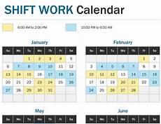 Work Shift Calendar Template Shift Work Calendar Year At A Glance