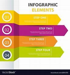 Infographic Arrow Arrow Infographic Elements Template Four Colors Ve