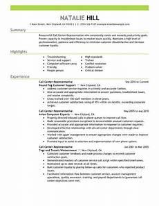 Call Center Job Description For Resume Simple Call Center Representative Resume Example Livecareer