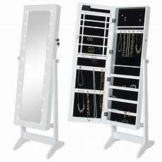 bcp mirrored jewelry armoire cabinet w led lights
