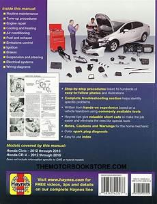 Honda Civic Cr V Repair Manual By Haynes 2012 2014 42027