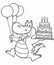 Ausmalbilder Geburtstag Tante Dino Kleurplaat Verjaardag Coloriage Anniversaires