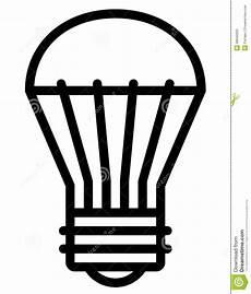 Led Light Bulb Symbol Led Light Bulb Icon Stock Vector Illustration Of