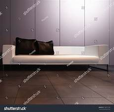 Modern Leather Sofa 3d Image by A 3d Rendering Of Modern Leather Sofa Stock Photo