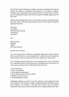 Resume Cover Letter Example For High School Students Cover Letter No Experience High School High School