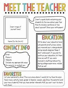 Examples Of Newsletters For Parents From Teachers Meet The Teacher Newsletter Template By The Pixie Dust
