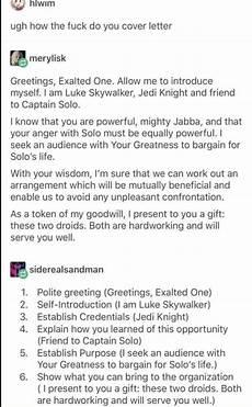 How To Write A Cover Lettter Luke Skywalker On How To Write A Cover Letter Boing Boing