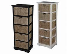 urbanest solid wood accent cabinet storage with 5 seagrass