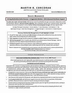 Sales Manager Sample Resumes Resume Samples For Sales Manager Sample Resumes