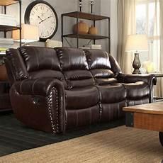 homesullivan merida chocolate leather sofa 409668brw 3