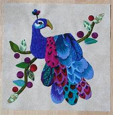 peacock applique peacock applique quilt block 1st one i can finally