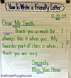 Example Of A Short Friendly Letter Friendly Letter Writing With Rack 3rd Grade Thoughts
