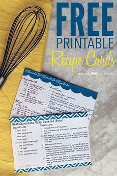 Recipes Cards Free Printable Recipe Cards Penny Pincher