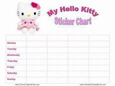 Hello Kitty Potty Training Chart Hello Kitty Reward Charts