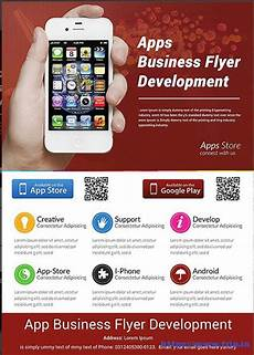 Best App To Make Flyers 60 Best Mobile App Promotion Flyer Print Templates 2019