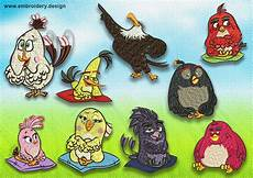 Angry Bird Designs Angry Birds Embroidery Designs Pack 9 Qty