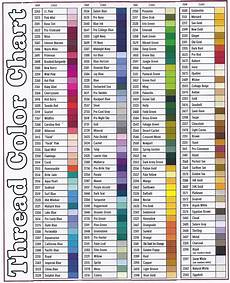 Embroidery Thread Exchange Chart Embroidery Thread Color Chart