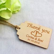 Wedding Favor Tags 100pcs Personalized Engraved Thank You Wedding Tags Wooden