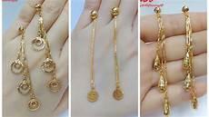 Earrings Design Images Rose Gold Plated Long Hanging Earrings Design For Women