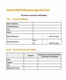 Salesman Evaluation Form Free 7 Sample Sales Appraisal Forms In Pdf Ms Word