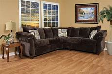 brown fabric modern 2pc sectional sofa w wooden legs