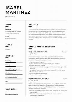 Shop Assistant Cv Template Shop Assistant Resume Example Amp Writing Guide Pdf