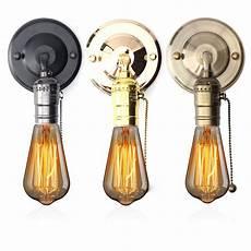 Wall Socket Light E27 Antique Vintage Wall Light Chain Design Sconce Lamp