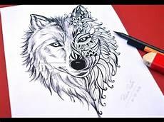 desenho de lobos desenho de lobo para tatoo speed drawing