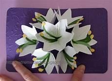 pop up card template flowers seven flower pop up card
