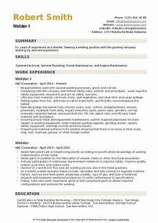 Resume For Welding Welder Resume Samples Qwikresume