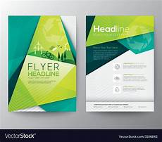 Pamphlet Design Template Abstract Triangle Brochure Flyer Design Template Vector Image
