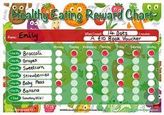 Food Chart For Kids A4 Healthy Eating Childrens Reward Chart