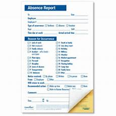 Absenteeism Report Template Employee Absence Report Compact 2 Part Disciplinary Forms