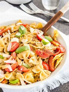 Salad With Pasta Pasta Salad With Italian Dressing Plated Cravings