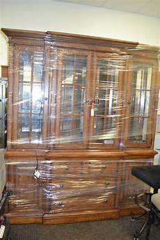 thomasville two china hutch buffet cabinet