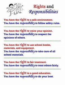 Student Rights And Responsibilities Rights Vs Responsibilities Poster By Jen Wood Tpt