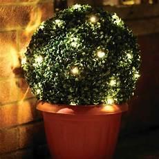 Garden Solar Light Topiary Bush Bright Garden Solar 35cm Topiary Bush With 30 Warm Leds