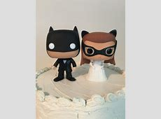 Custom Funko Pop Batman And Catwoman Wedding Cake Toppers