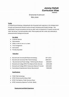 How Is A Cv Set Out Hr Resume Sample Template Business