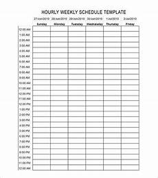 7 Day Calendar With Hours 24 Hours Schedule Templates 22 Samples In Pdf Doc