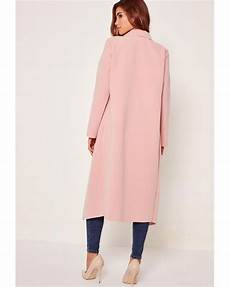 pink coats for duster missguided pink oversized waterfall duster coat in