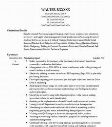 Purchase Agent Resume Purchasing Agent Resume Sample Agent Resumes Livecareer