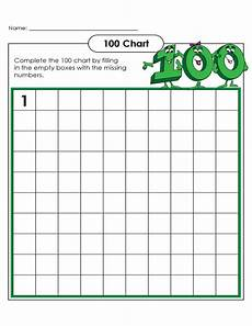 Fill In 100 Chart Printable Blank Number Charts 1 100 Activity Shelter