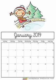 Dsny 2019 Chart Calendar Free Printable 2019 Calendar Print Yours Here Kiddycharts